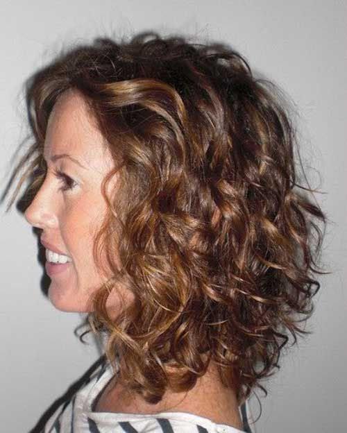 10. Curly Bob Hairstyle