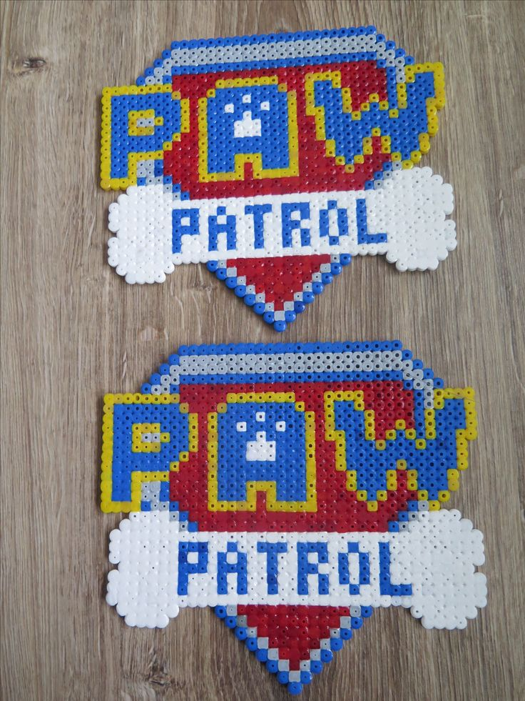 Paw Patrol Logo Hama strijkkralen beads perler