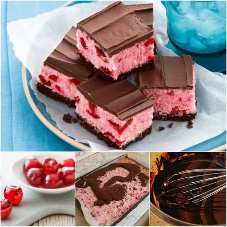 No Bake Cherry Ripe Slice!