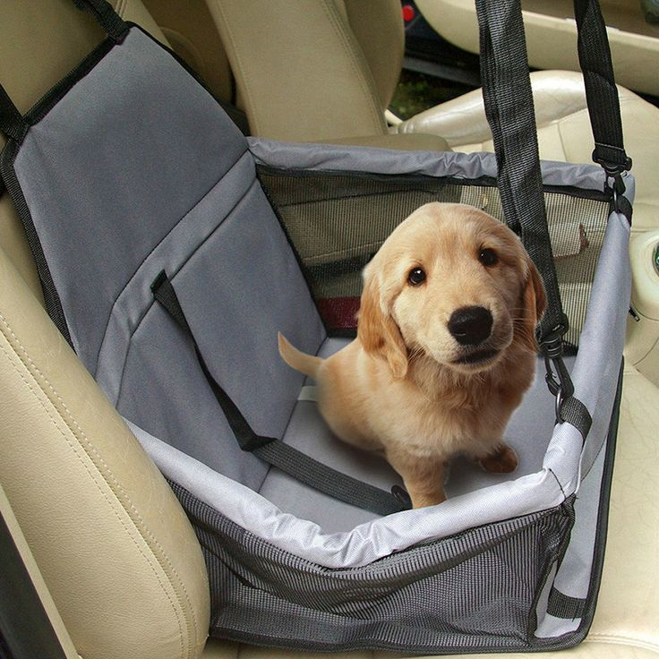 cool Pet Dog Waterproof Car Seat Portable Puppy Bag with Clip-on Safety Leash and Zipper Storage Pocket Car Travel Accessories