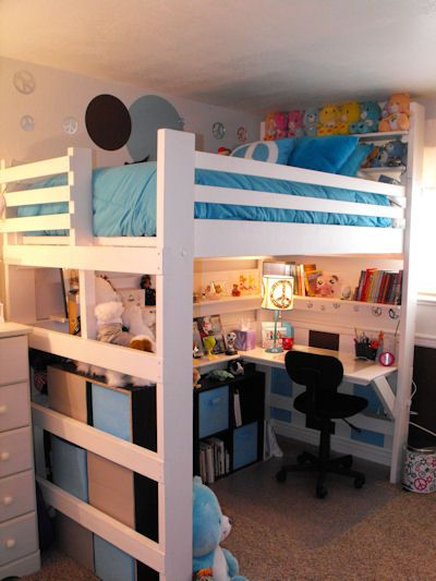 Bedroom Makeovers using Loft Beds by College Bed Lofts
