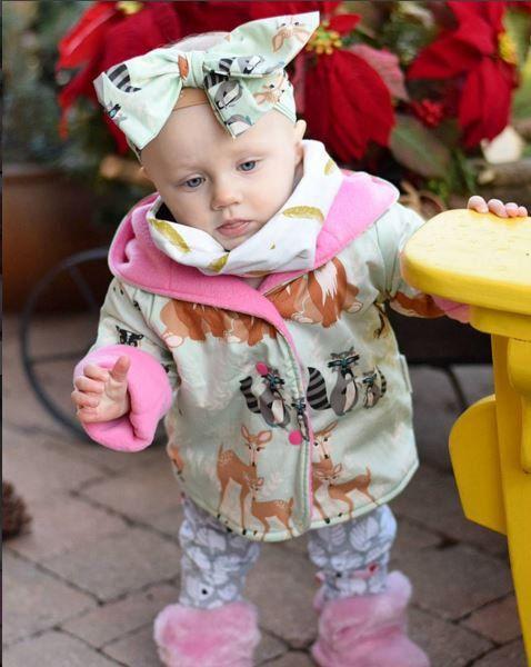 Baby Girls Jacket  Reversible Jacket  Baby Coat  by LottieandLysh