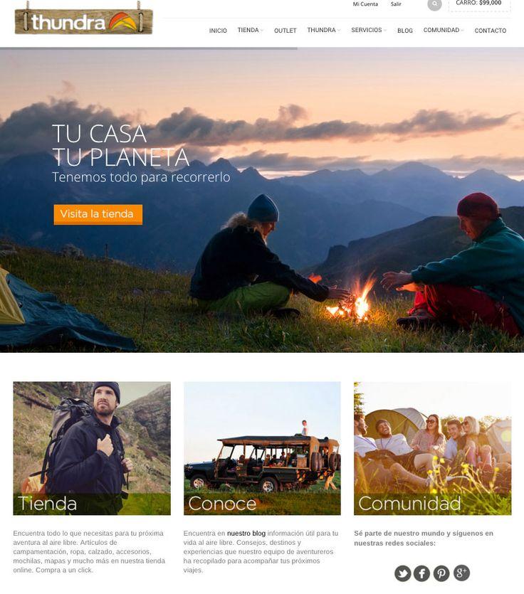 Ecommerce para THUNDRA - Año ©2015
