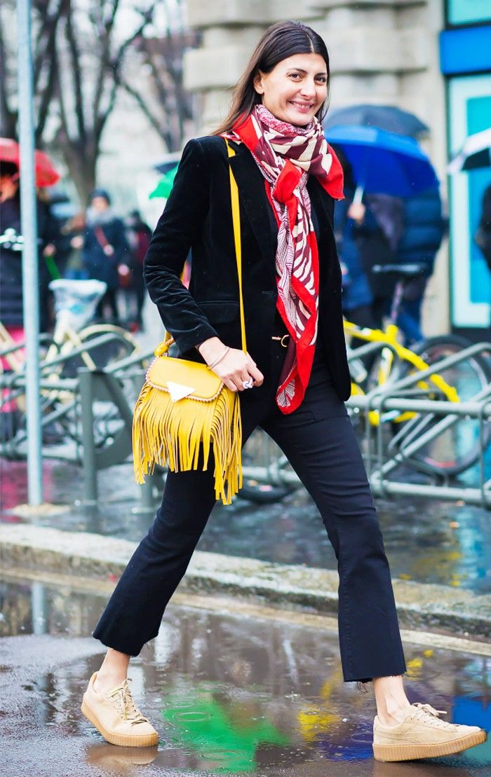 8 Work Outfits You Can Wear With Sneakers via @WhoWhatWear
