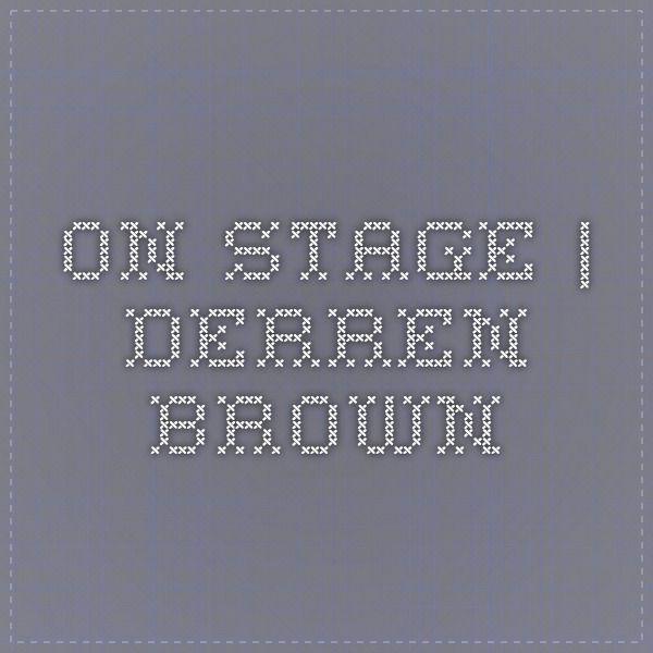 On Stage | Derren Brown