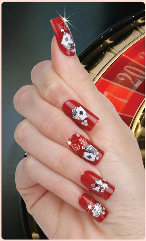 3D Nail Art Las Vegas You'll need the magnifying glass nails to play games with these nails!