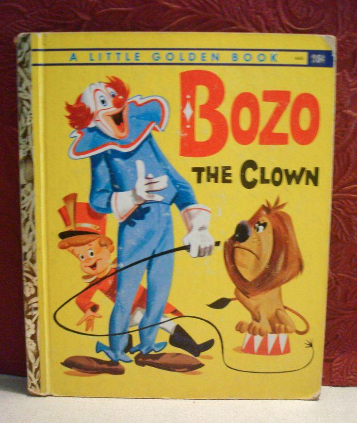 A Little Golden Book BOZO the Clown HC 1961 'A' First Editin Circus Story