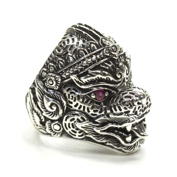 925 Sterlingsilber Silber Ring Chinesischer Drache Dragon mit roten Zirkonia in Uhren & Schmuck, Echtschmuck, Ringe | eBay!