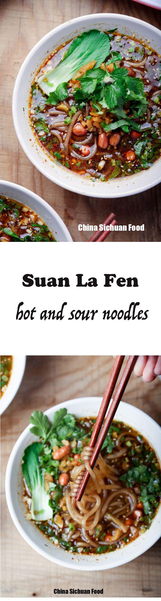 Hot and Sour Sweet Potato Noodles--Suan La Fen--Chongqing hot and sour sweet potato noodles | ChinaSichuanFood.com