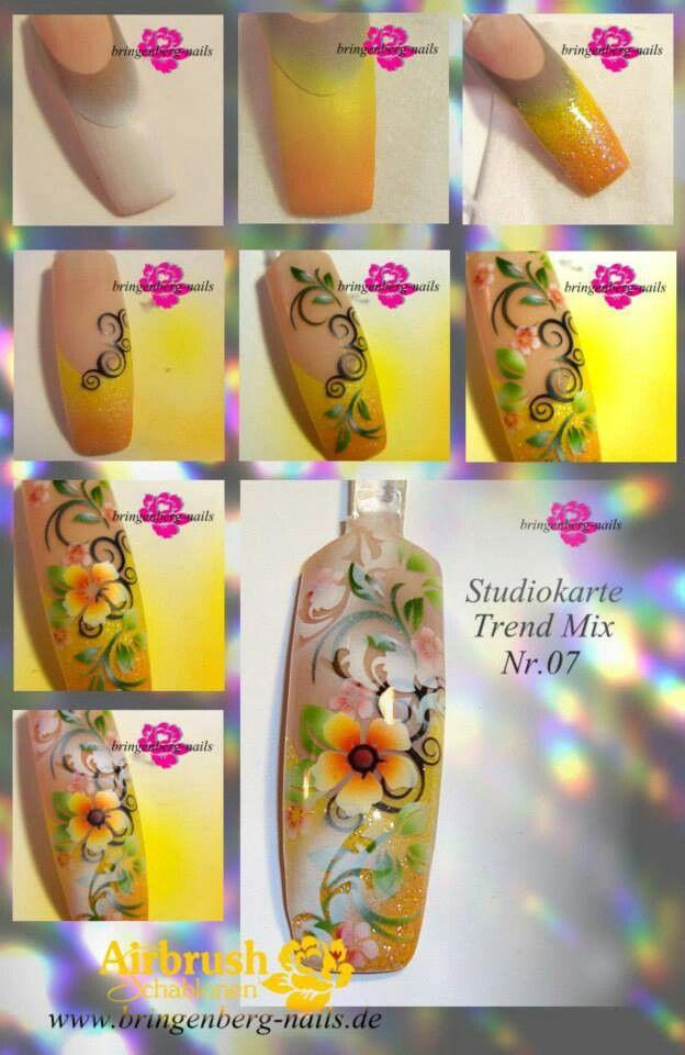 26 Best Airbrush Nail Art Carol Images On Pinterest Airbrush Nail