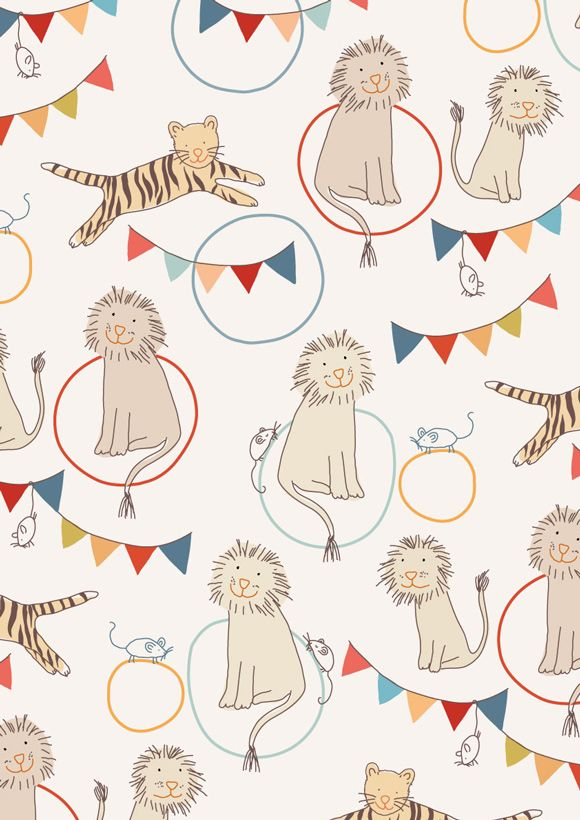 Wallpaper patterns | children illustration | little-cube.com