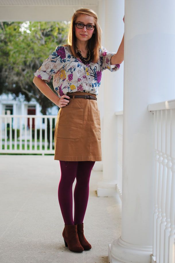 105 best How to Wear: Colored Tights images on Pinterest ...