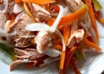 Salmone al vapore con verdure e aceto di riso
