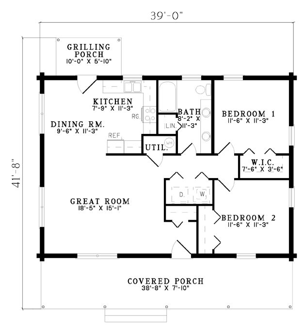 The rugby house plan 7571 with a few 39 wall tweaks 39 this for 2 bedroom retirement house plans