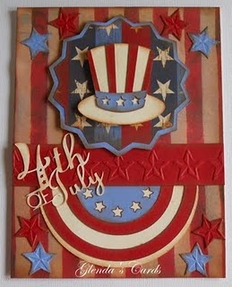 4th of JulyPink Wedding, July Handmade, Blushes Pink, Cricut Independence, July Cards, Handmade Cards, Cricut 4Th Of July, Cards Patriots, Happy 4Th