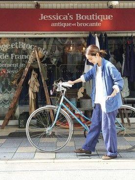 水戸悠夏子さんのカバーオール「古着 」を使ったコーディネート