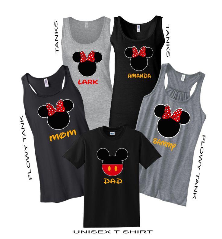 """Disney Minnie Flowy Tank Top T Shirt"" Vacation Family Shirts"
