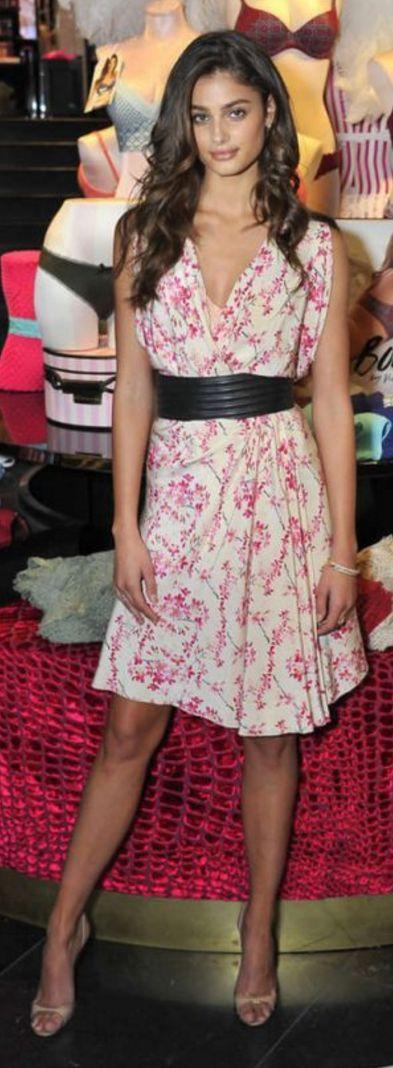 Taylor Hill: Dress – Balenciaga  Belt – Saint Laurent  Shoes – Manolo Blahnik