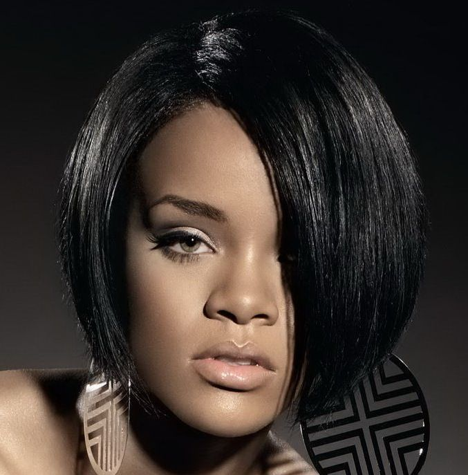 bob haircuts black hair rihanna bob haircut bobs ground floor and stacked 1356 | 0e7791d4648bee92d7779371c2315e60 layered bob haircuts bob cut hairstyles