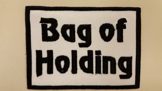 D & D Gamer patch for bags Bag of Holding Patch by GoMonogram