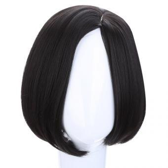 22CM peluca de pelo corto de negro natural-negro