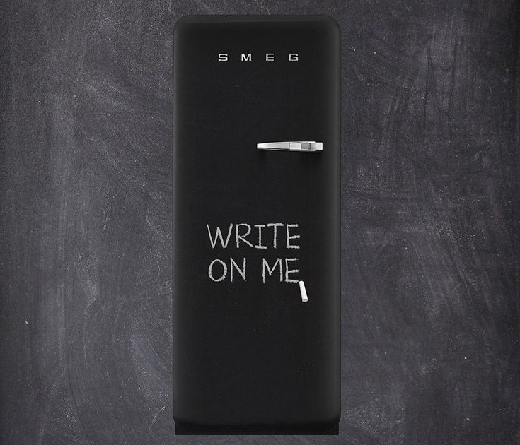This Blackboard fridge by Smeg is perfect for scribbling down your grocery lists and 'to dos'.