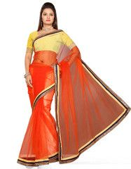 Orange Color Net Function & Party Wear Sarees : Aditri Collection  YF-41450