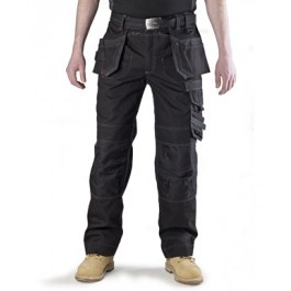 Scruffs premium Quality Work Trousers with Cordura in a Black.