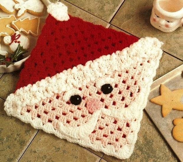 Santa Face Hot Mat Pattern