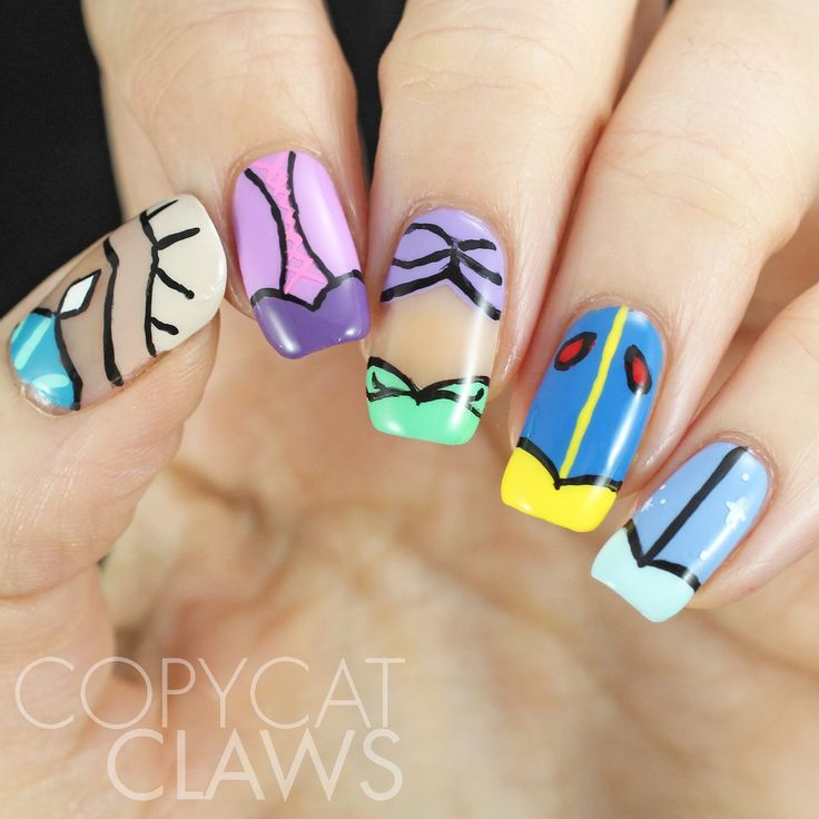 Copycat Claws: The Digit-al Dozen Does Fairy Tales: Day 2 Disney Princess Dresses