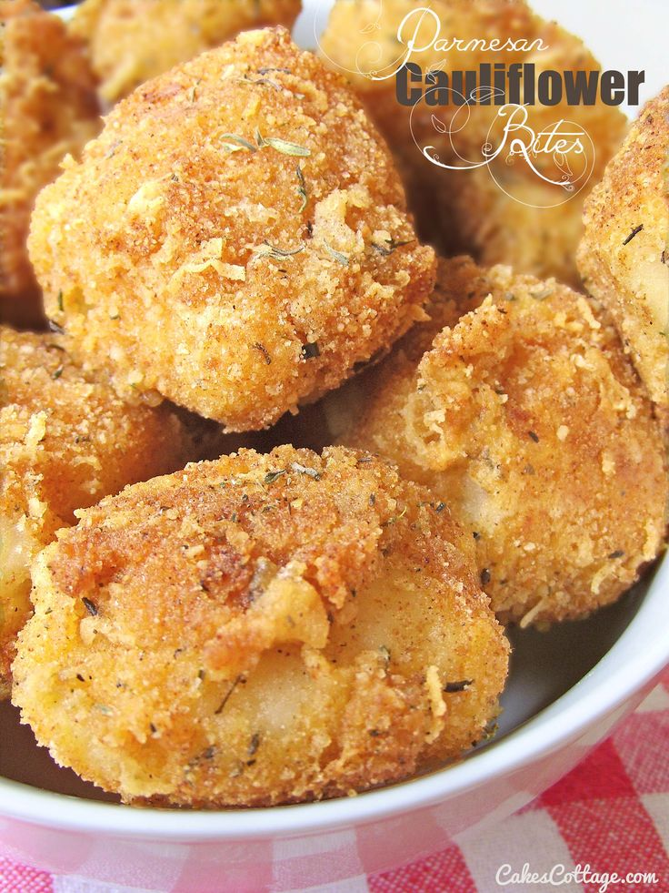 Parmesan Cauliflower Bites - Cakescottage
