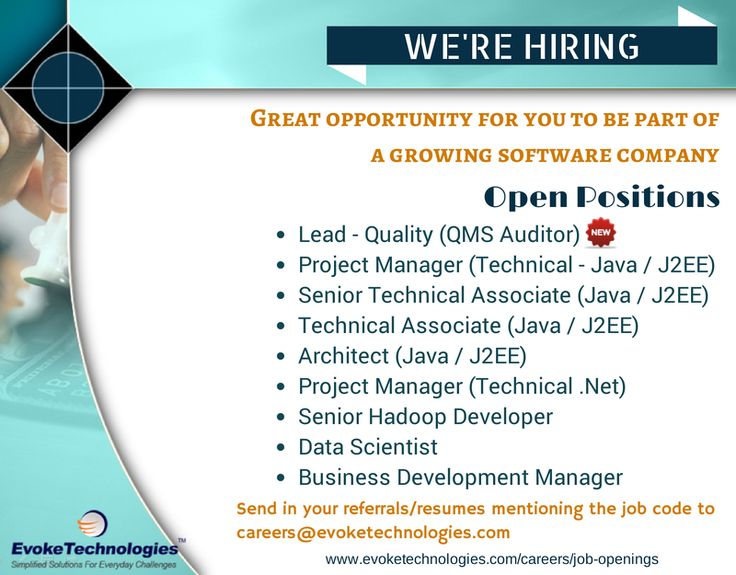 We are hiring for the below positions, come join us! Be part of a - hadoop developer resume