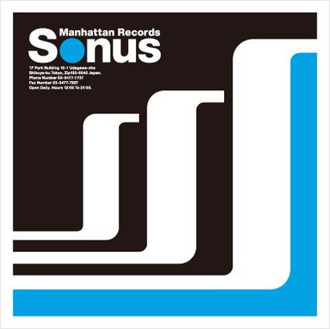 "YOSHIHIRO MADACHI, ""Manhattan Records Sonus"" record & cd shop マンハッタン・レコード・ソーナス  LOGO MARK design"