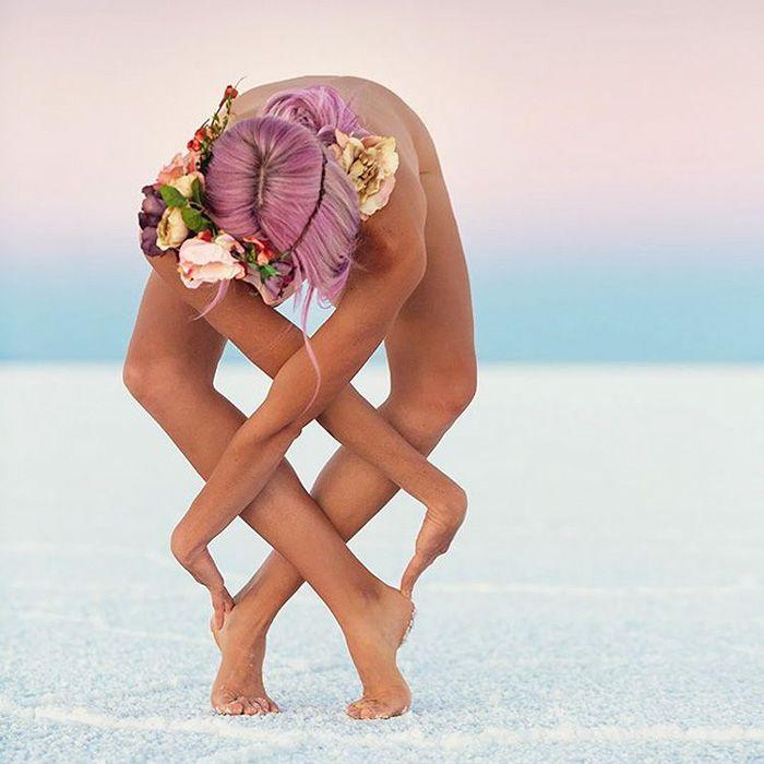 Las increíbles poses corporales de esta yoguini inspiran a personas con…