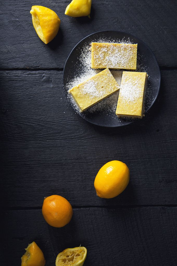 Easy Vegan Lemon Bars! 8 ingredients, gluten-free, grain-free and refined sugar-free!