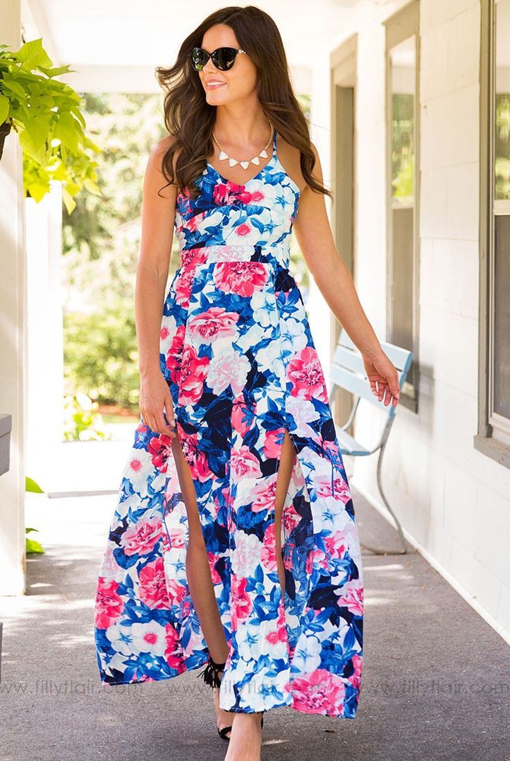 This Exclusive Filly Flair Maxi will be the envy of all your friends. Unique back detailing makes this dress extra cute but still bra friendly. This is the maxi you will want to wear all summer! | Affiliate link |