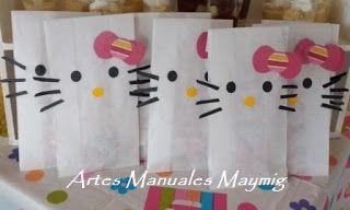 Bolsas para cotillones o souvenir: Fiesta de Hello Kitty