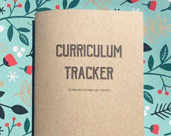 Curriculum Planner printable, School curriculum Planner, Weekly planner, Inserts, Planner inserts, School planning, A5, ASL, Download