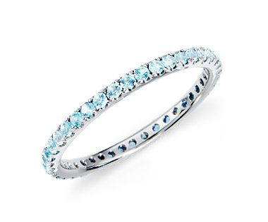 March Birthstone-Aquamarine --my boyfriends birthstone is Aquamarine so I want this for when I get married or maybe an anniversary gift :) have my wedding ring, wedding band and his birthstone :)
