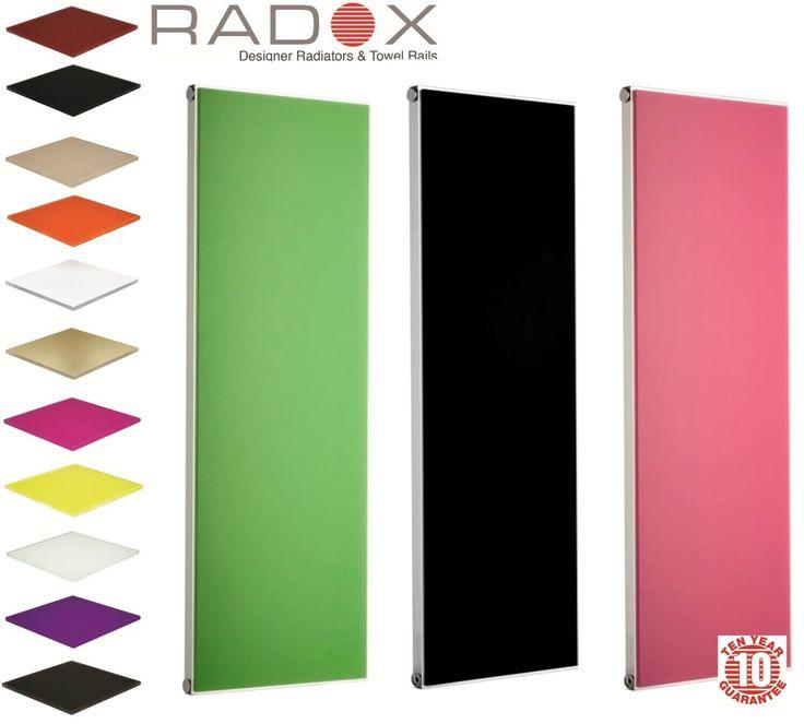 Coloured glass radiators