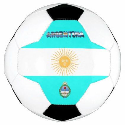 Argentinian flag soccer ball - pattern sample design template diy cyo customize