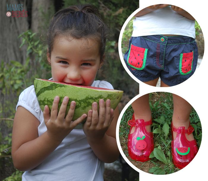 Sweet shorts with watermelon in them