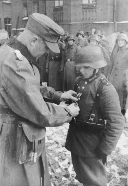 Boy soldier from Hitlerjugend, at age of 16, Germany, 1945 (Bundesarchiv)
