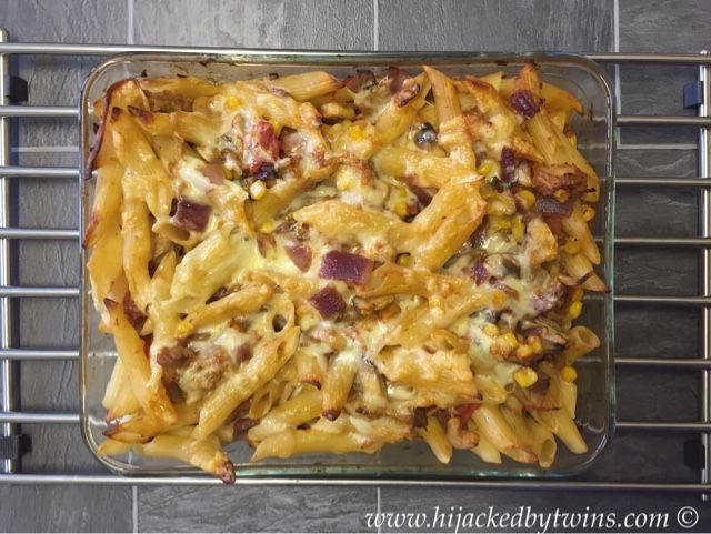 Hijacked By Twins: Leftover Pulled Pork Pasta Bake with Aldi