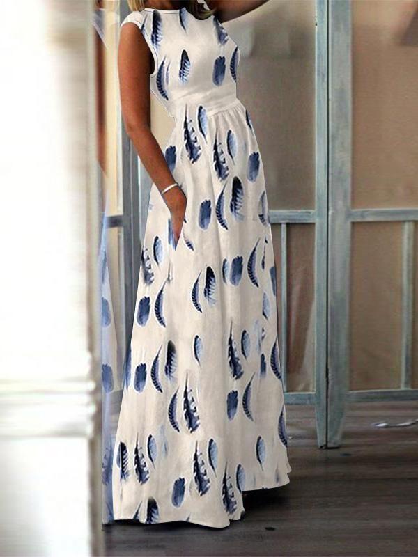 Fashion Elegant High-Waisted Pocket Holiday Maxi Dress 11