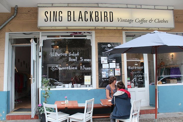 Sing Blackbird sells vintage clothes, but also has great juices and cakes. The second-hand shop sells its wares at flea markets, too.