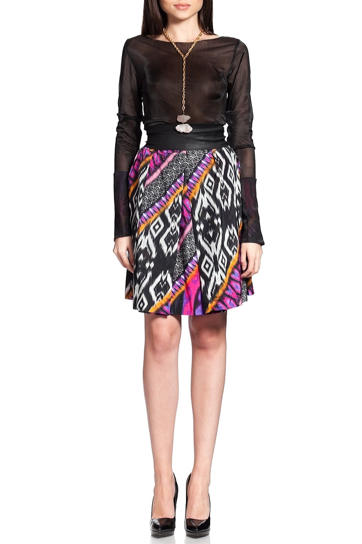 Fusta multicolora Tribal print