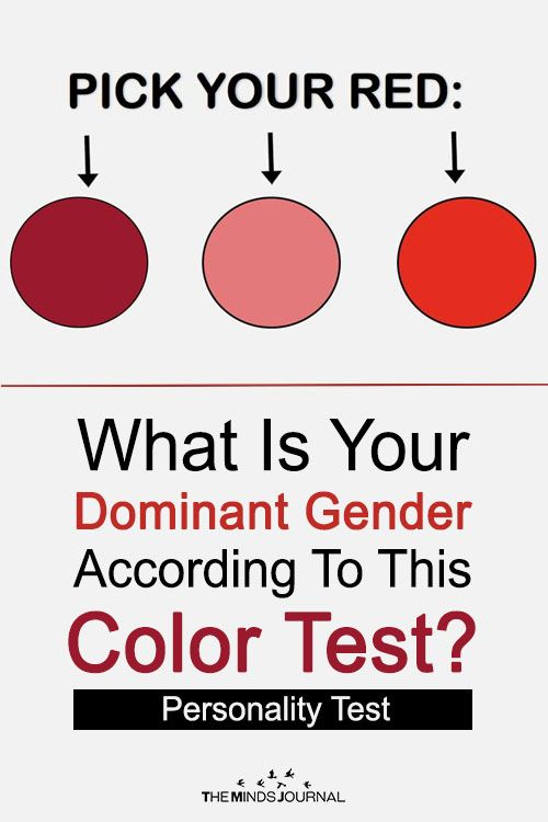 What Is Your Dominant Gender According To This Color Test