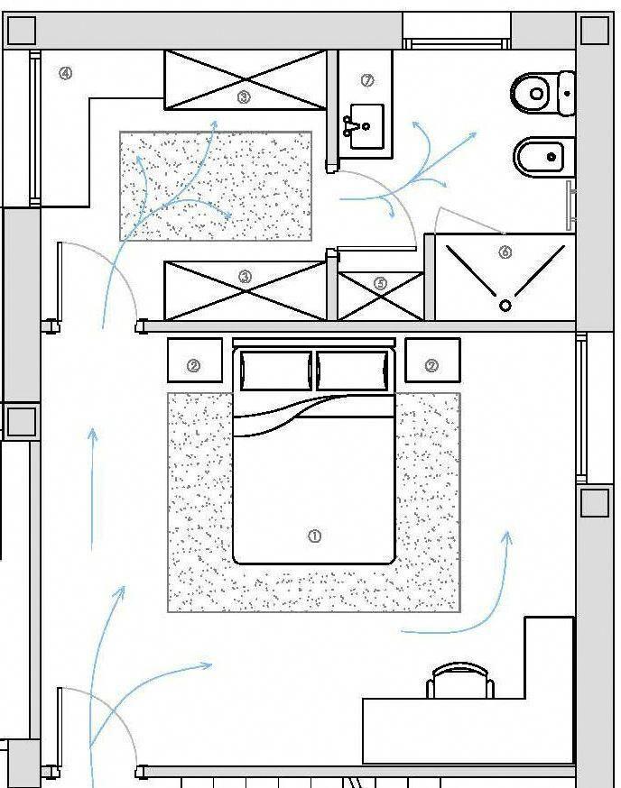 Distribucion De Dormitorio Vestidor Y Bano Bedroomlayout