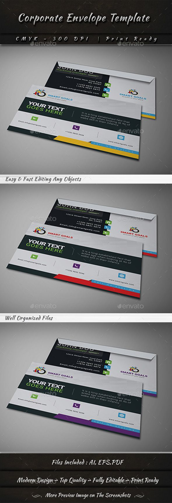 Blank Letter Envelope Business Cards And Cd  Cd Design